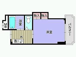 シャルマンフジ東岸和田弐番館[207号室]の間取り