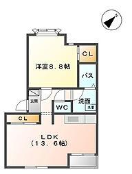 クレストヒルズIII[2階]の間取り