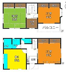 [一戸建] 神奈川県茅ヶ崎市松が丘2丁目 の賃貸【/】の間取り