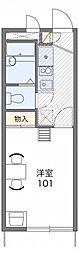 レオパレスハーモニー高石[2階]の間取り