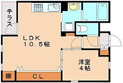 クレールアクシアI[1階]の間取り