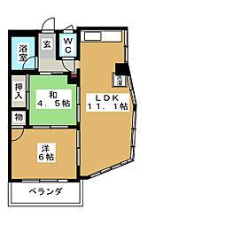 徳川ビル[4階]の間取り