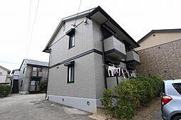 愛知県長久手市岩作早稲田の賃貸アパートの外観