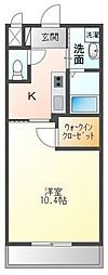 高松琴平電気鉄道琴平線 三条駅 徒歩18分の賃貸アパート 1階1Kの間取り