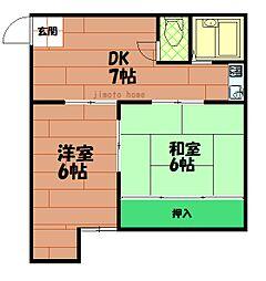 延山マンション[3階]の間取り