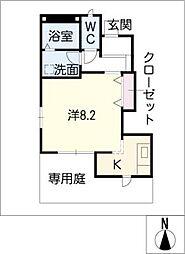 サンシャインK.C2[1階]の間取り