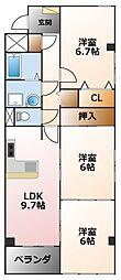 ロイヤルハイツ甲子園口[2階]の間取り