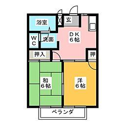 カームパインツリー21[2階]の間取り