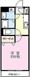 ラフィーヌ[3階]の間取り