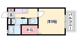 JR山陽本線 相生駅 バス30分 播磨高原東中学校停下車 徒歩3分の賃貸アパート 1階1Kの間取り