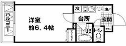 ドエル新町[6階]の間取り