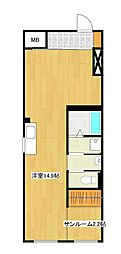 Vivo H 3階ワンルームの間取り