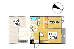 アンピオ姪浜八番館[101号室号室]の間取り