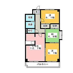 シャトレM[2階]の間取り