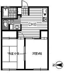 ハイツイシワタ5[105号室]の間取り