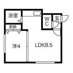 S-ing 2nd[1階]の間取り