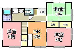 [一戸建] 茨城県ひたちなか市東石川 の賃貸【茨城県 / ひたちなか市】の間取り