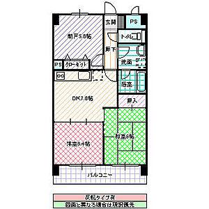 間取り,2SDK,面積56.84m2,賃料9.5万円,JR常磐線 水戸駅 徒歩10分,,茨城県水戸市南町