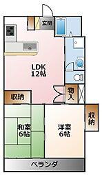 ニュー甲子園マンション[4階]の間取り