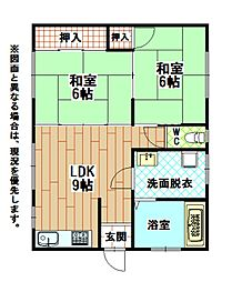 福岡県北九州市小倉北区砂津2丁目の賃貸アパートの間取り