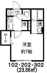 新築 Jure Kagurazaka[302号室号室]の間取り