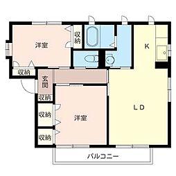 シャーメゾン千塚パーク[2階]の間取り