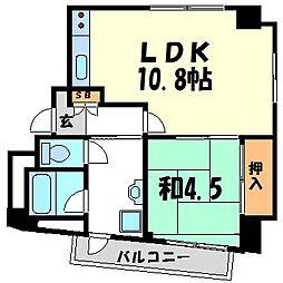 トーエイマンション西宮[2階]の間取り