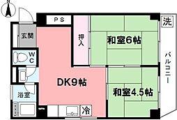 コーポ大和妙正寺公園[604号室]の間取り