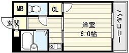 ハイムリップル[6階]の間取り