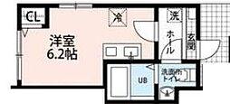 東京都杉並区上井草2丁目の賃貸アパートの間取り