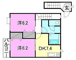 グリーンコート(高岡町)[203 号室号室]の間取り