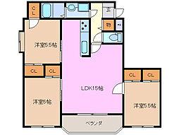 arcadia[3階]の間取り