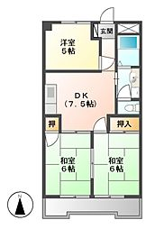 第2豊嶋ビル[3階]の間取り