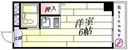 プレアール正雀[4階]の間取り