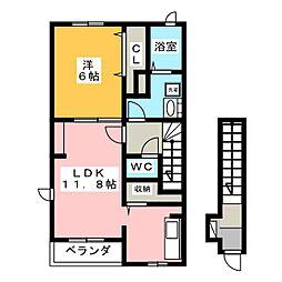 エテルノM[2階]の間取り