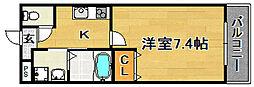 大阪府大阪市東淀川区淡路3丁目の賃貸マンションの間取り