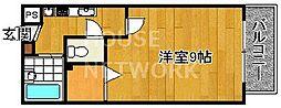 トラスト茶山[203号室号室]の間取り