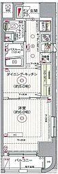 都営新宿線 浜町駅 徒歩5分の賃貸マンション 3階1DKの間取り