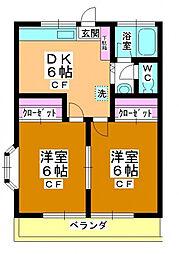 サンハイム鶴ケ丘[101号室号室]の間取り