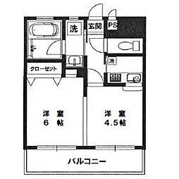 サンパーク恵比寿[9階]の間取り