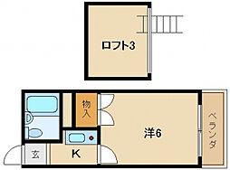 レオパレス寝屋川第3[2階]の間取り