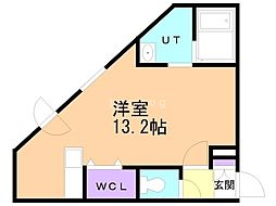 Premier-ist N.43 4階ワンルームの間取り