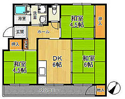 新狭山ハイツ15号棟[205号室]の間取り