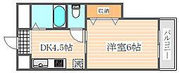 エクセレント箱崎[3階]の間取り