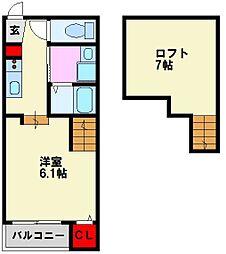 (仮)シャレオ井尻III[1階]の間取り