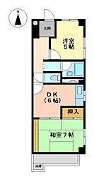 松栄ビル上飯田[2階]の間取り