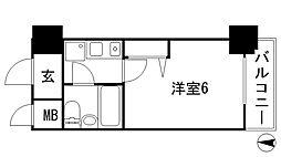 兵庫県西宮市和上町の賃貸マンションの間取り