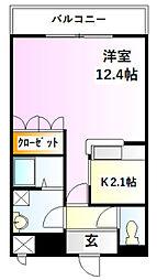 フレッシュパレス堀越[1階]の間取り