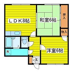 北海道札幌市東区北二十七条東22丁目の賃貸マンションの間取り