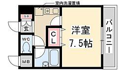 兵庫県伊丹市野間北5丁目の賃貸マンションの間取り